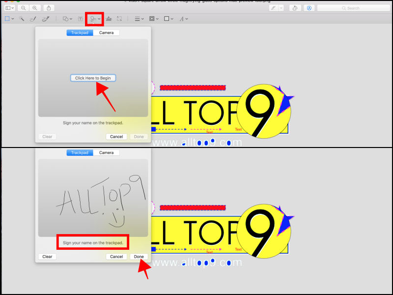 enter-digital-signature-through-tackpad-camera-preview-tool-mac