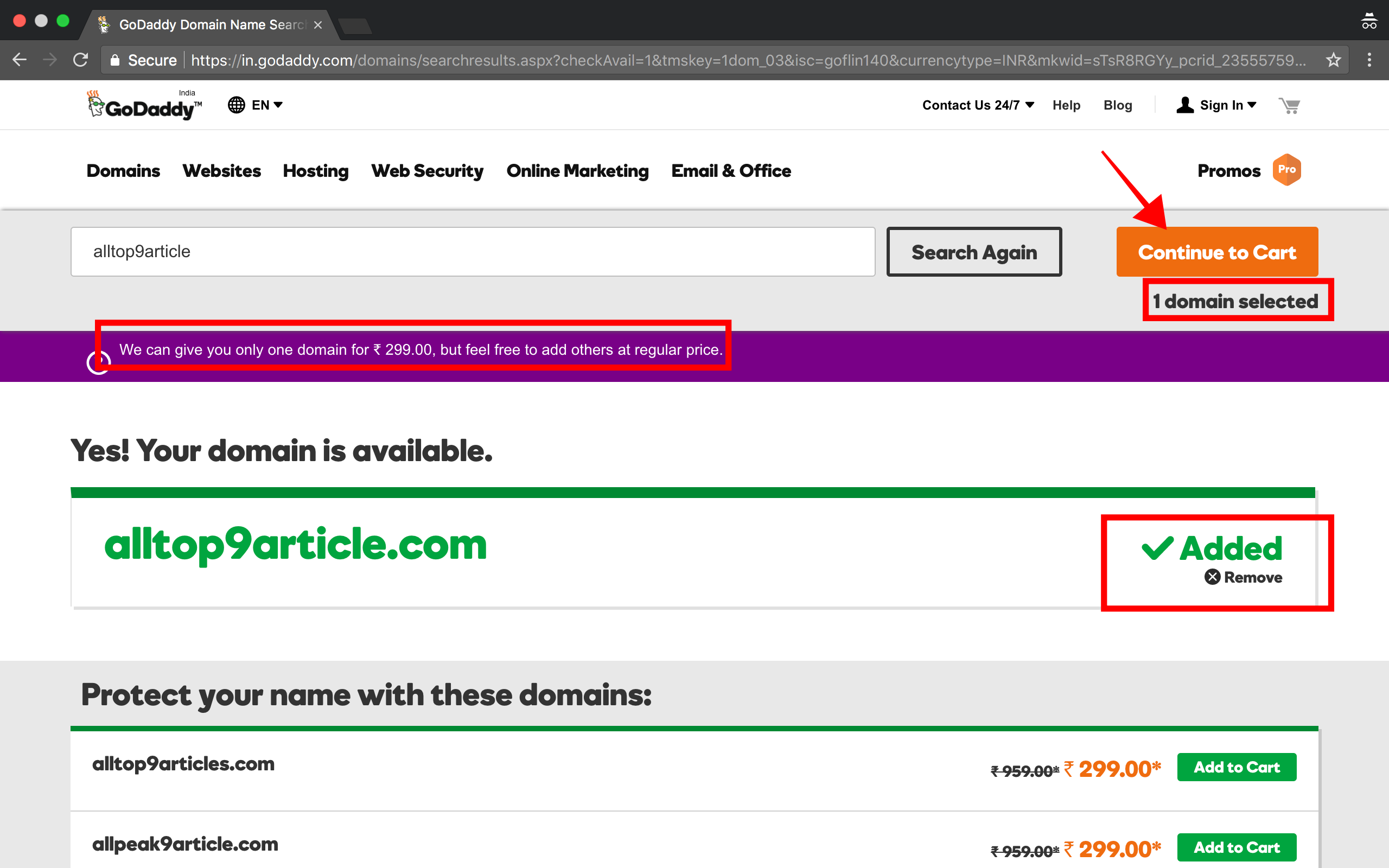 domain-name-added-to-cart-to-buy
