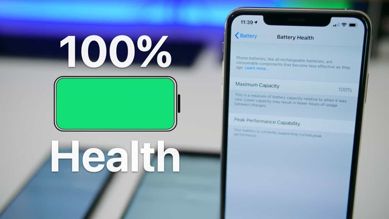 100 percent iphone battery health