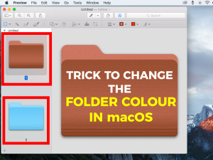 How to Change the Colour of a Folder in the MacOS Finder