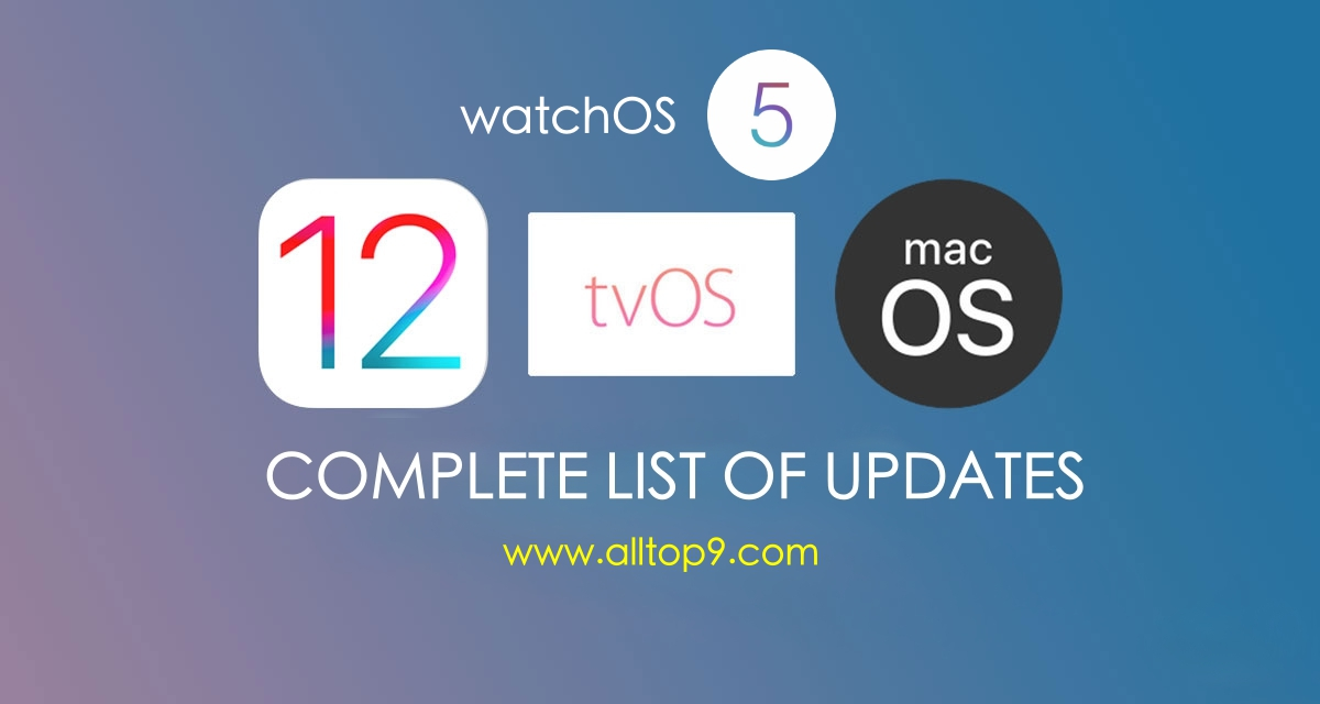 ios-12-macos-10-14-tvos-12-latest-watchos-5-latest-new-updates