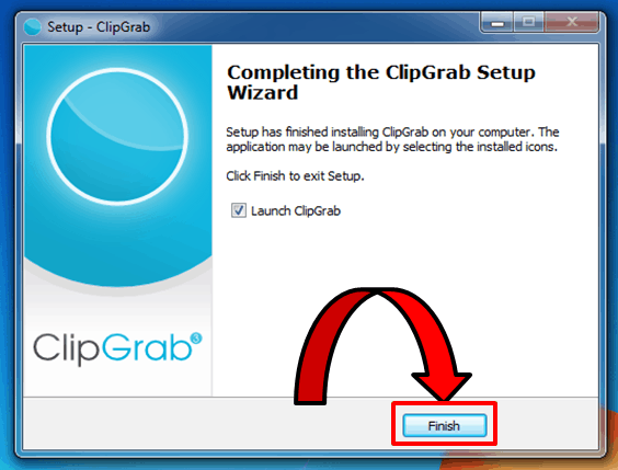 ClipGrab-Installation Finished