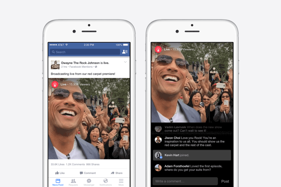 Facebook App Live Streaming