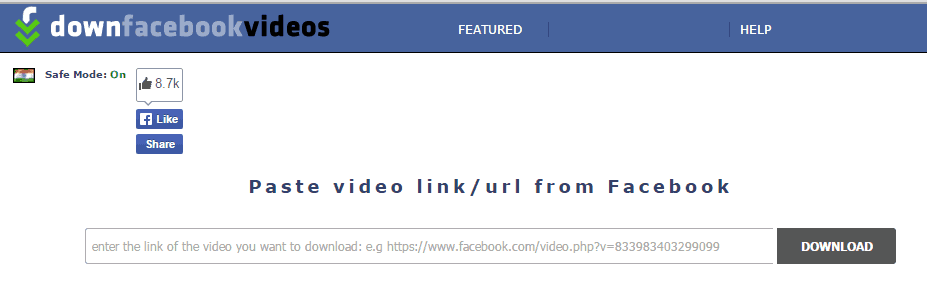 How to download Facebook Videos using downfacebook