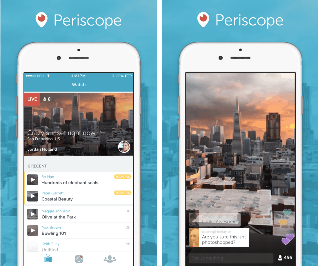 Periscope App Live Streaming