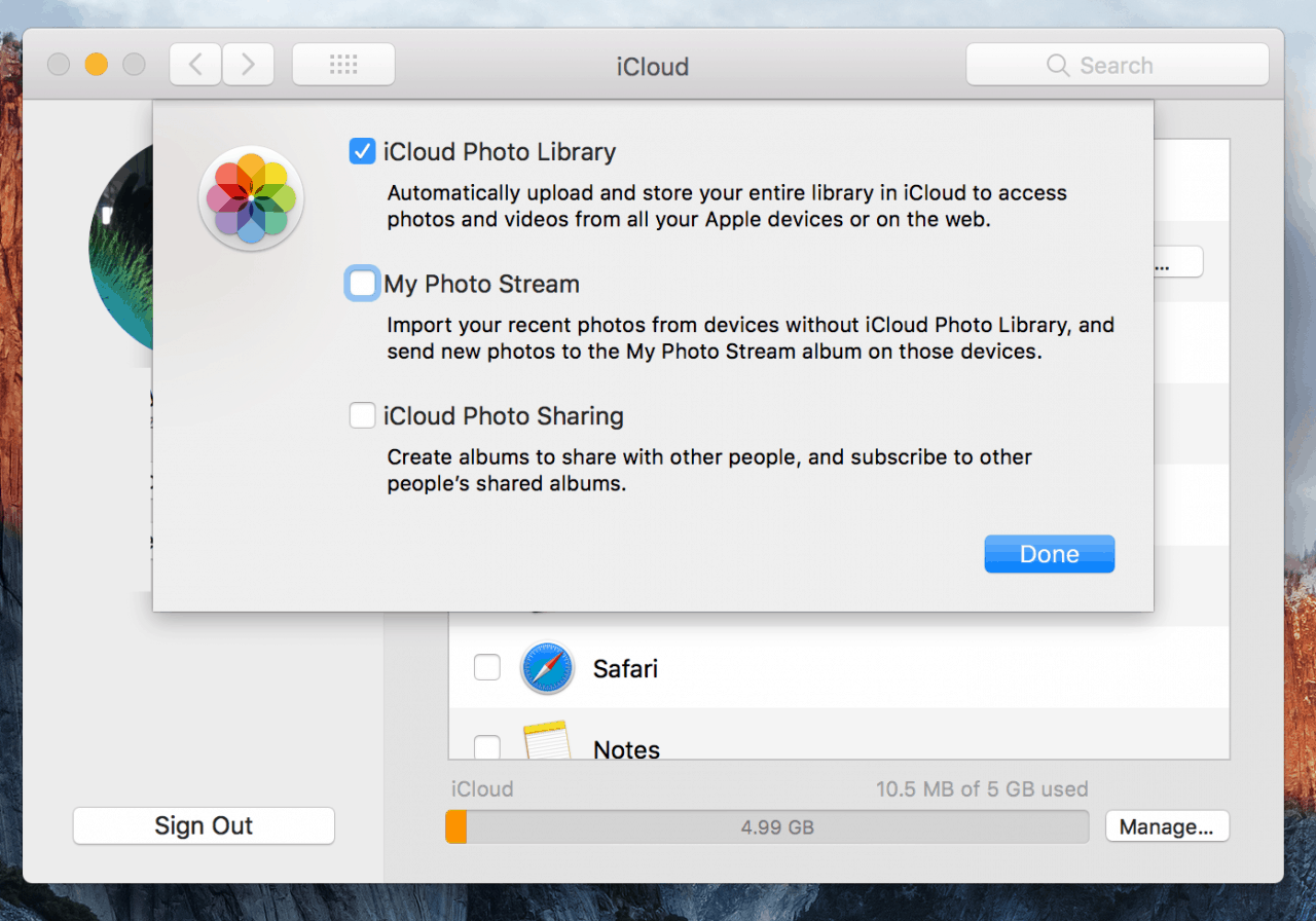 activate-photo-library-icloud-in-preferences