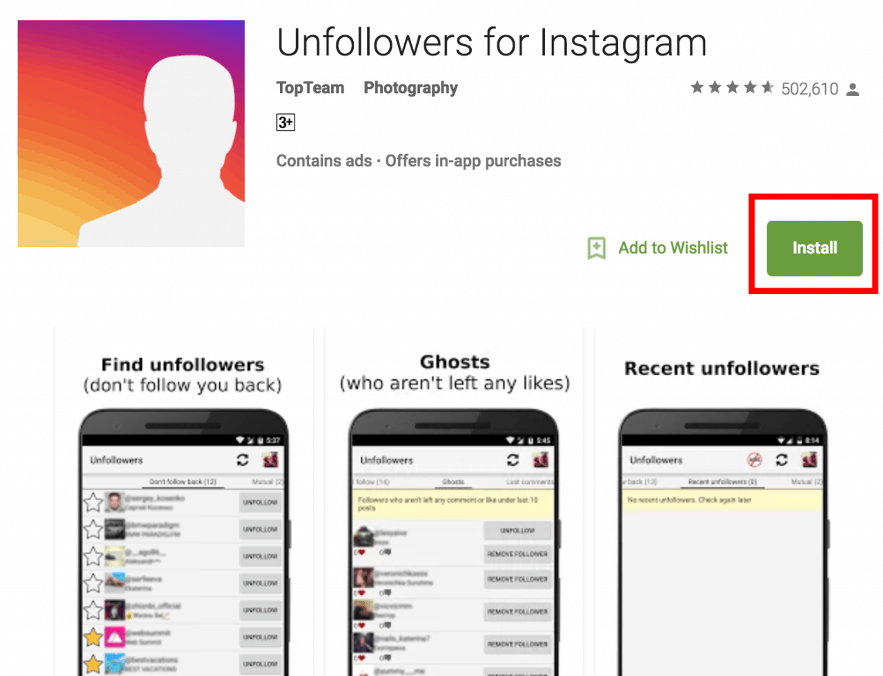 unfollowers-on-instagram-android-app
