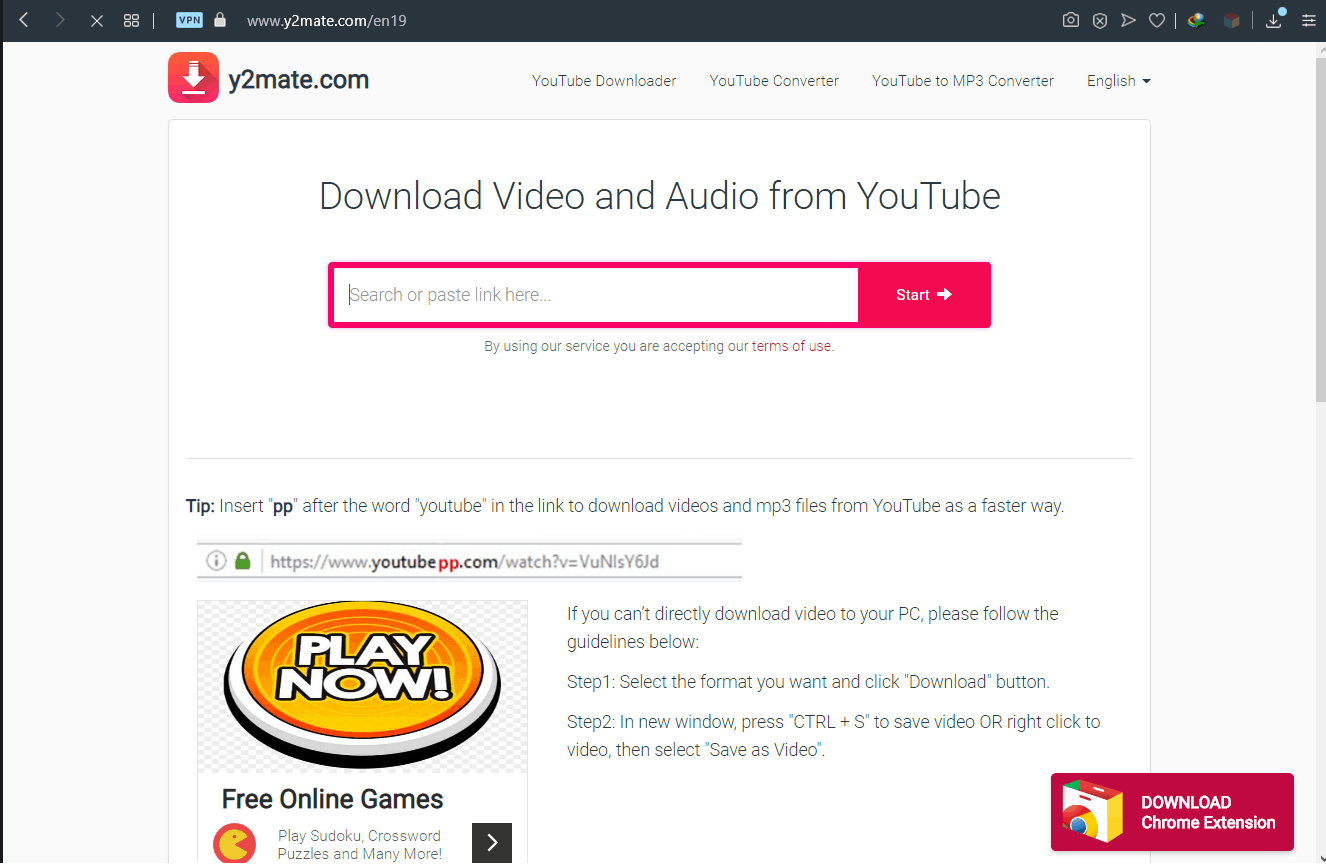 How to download videos from YouTube using y2mate.com-1-