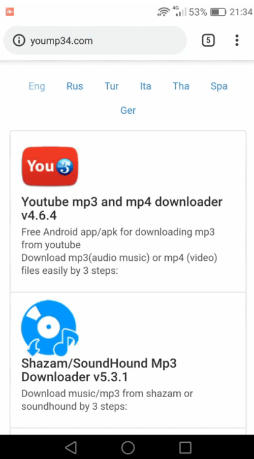 How to download videos from YouTube using YouMp34-1