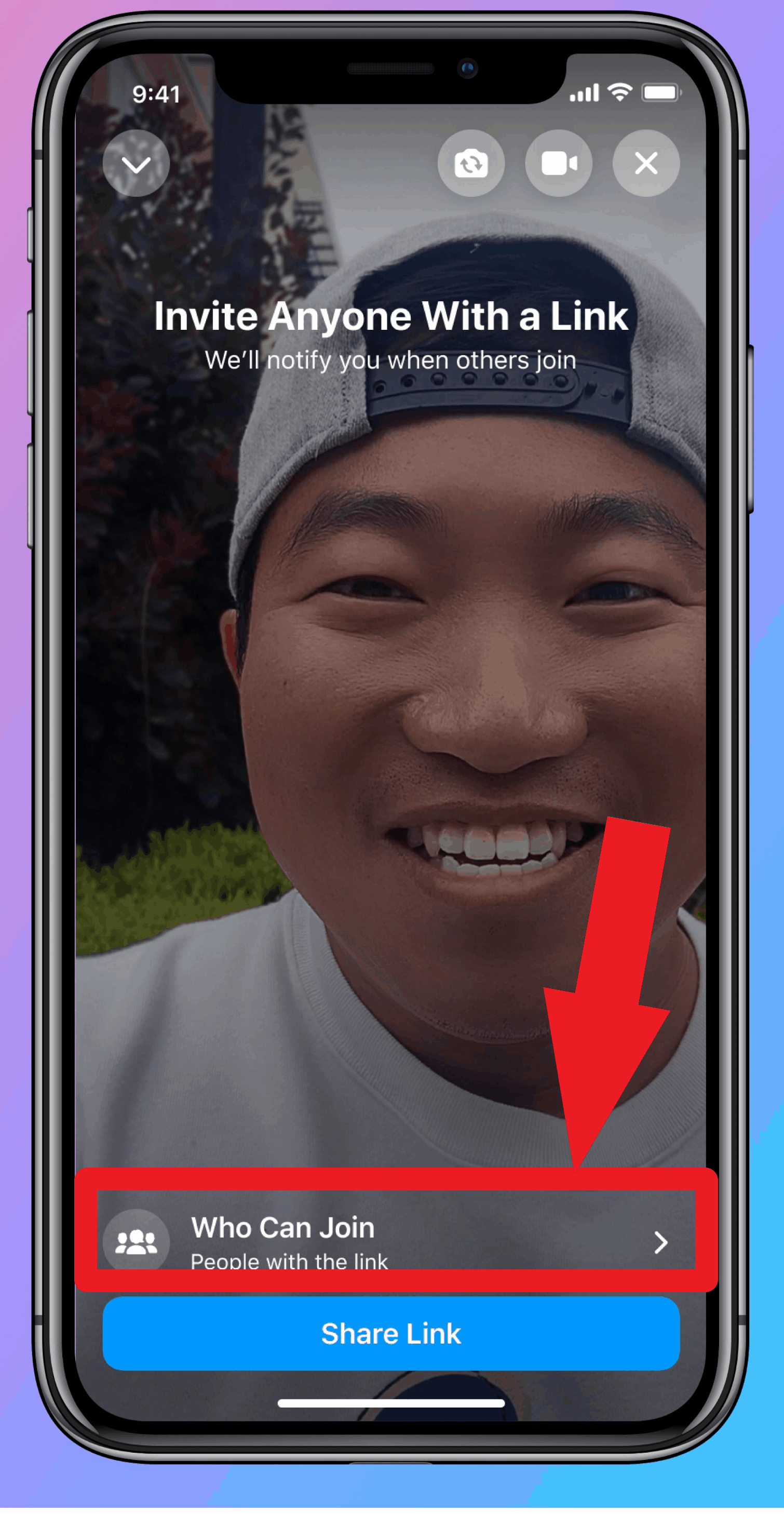 How to create a Facebook video calling Messenger Room on Mobile-3