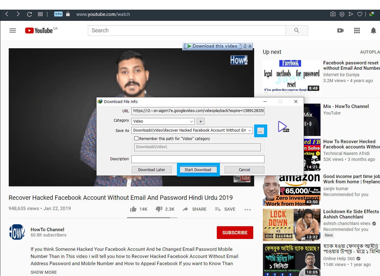 How to download Videos from YouTube using IDM-5