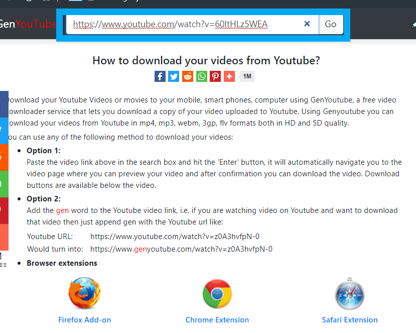 How to download videos from YouTube using Gen YouTube-2