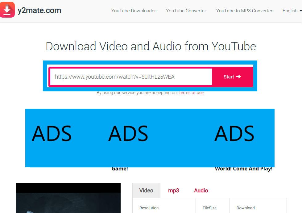 How to download videos from YouTube using y2mate.com-2