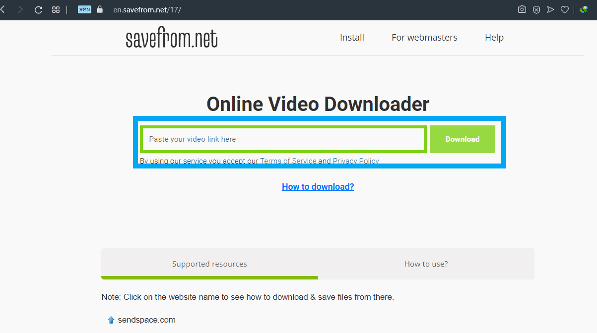 How to download videos from YouTube using savefrom.net-1