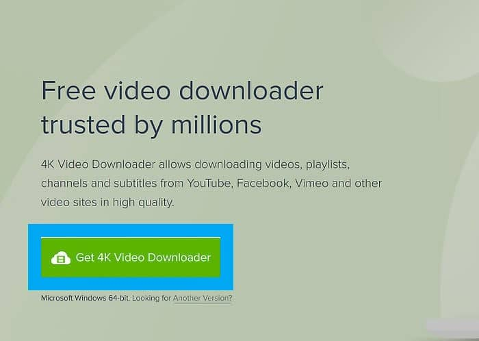 Download YouTube videos using 4K Video Downloader