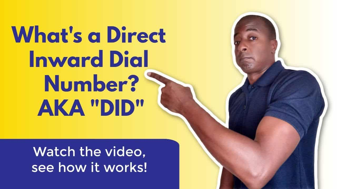 What is a direct inward dial number? (DID) - YouTube