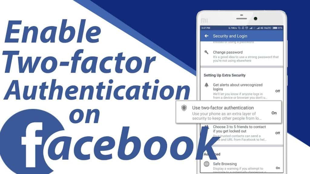 Enable Two-Step Facebook Verification