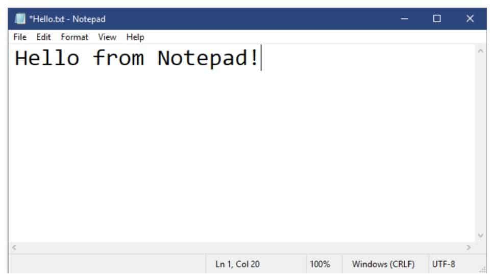 Notepad tricks and commands