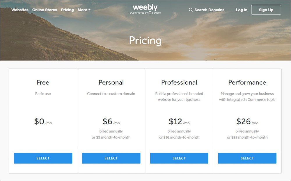 Weebly Page