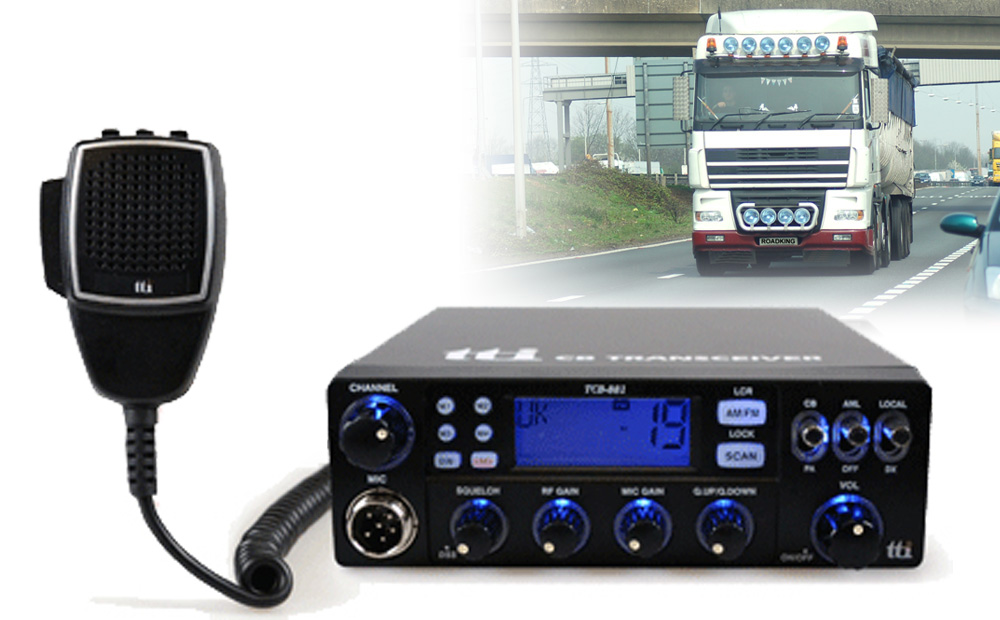 CB radio and truck