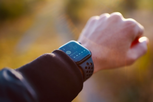 displaying a smartwatch